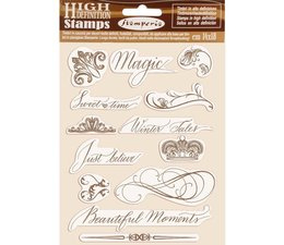 Natural Rubber Stamp Beautiful Moments