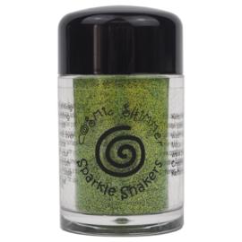 Cosmic Shimmer sparkle shaker lime green