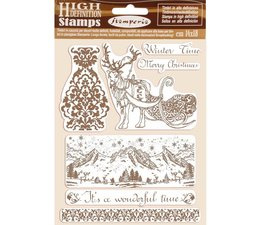 Natural Rubber Stamp Winter Time