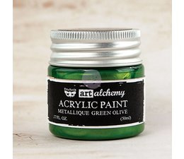 Art Alchemy Acrylic Paint Metallique Green Olive