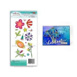 Floral Fireworks 2 Clear Stamp