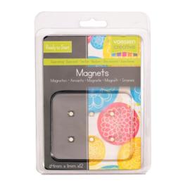 Vaessen Creative • Magneet Ø4x1mm Ni coated 12 stuks