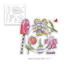Wild Garden Clear Stamps