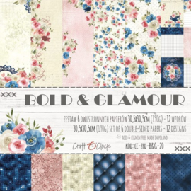 BOLD & GLAMOUR - A SET OF PAPERS 30,5X30,5CM