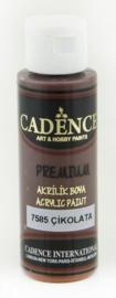 Premium acrylverf (semi mat) Chocolade bruin
