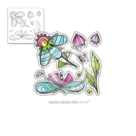 Fly with Me Clear Stamps