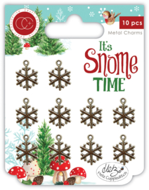 It's Snome Time Metal Charms Snowflakes