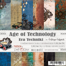 AGE OF TECHNOLOGY - A SET OF PAPERS 15,25X15,25CM