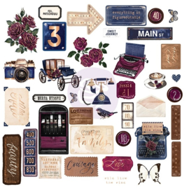 Darcelle Ephemera chipboard stickers