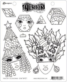 Dylusions Cling Stamp Set Hats Off To Christmas