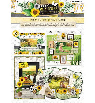Stansblok Beautiful Sunflowers