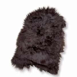 IJslands Langharige schapenvacht natuurlijk zwart