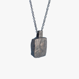 Ketting amulet vierkant - Silver