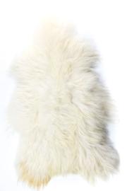 IJslands langharige schapenvacht Wit