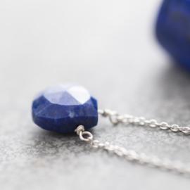 Divine Lapis Lazuli Zilver Ketting
