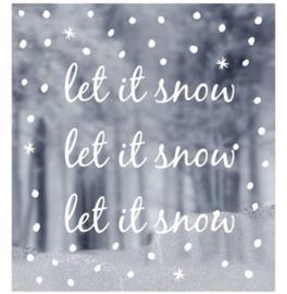 """Delight Department raamsticker """"Let it snow"""""""