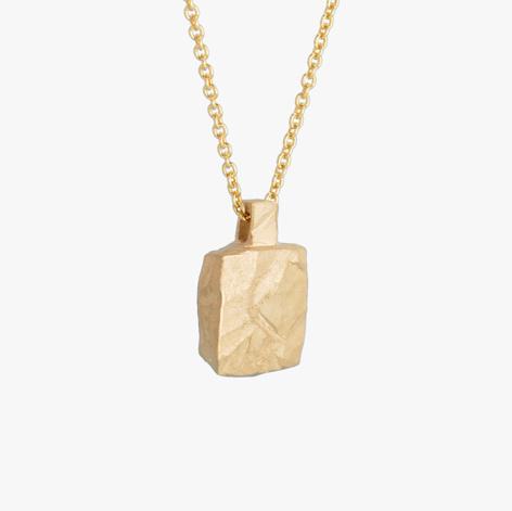 Ketting Amulet vierkant - Goud