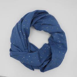 Sjaal Golden Dots Blauw