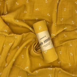 Hydrofieldoek Oker Geel met Ankertjes