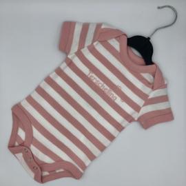 Baby rompertje Terschelling - licht roze bretonse streep