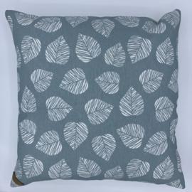 Kussen - Leaf blue - formaat 40 x 40