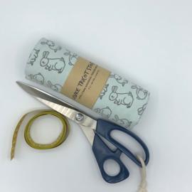 Konijntjes print - Mint groen en grijs