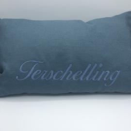 Terschelling kussen  Jeans Blauw - formaat 30 x 50 cm