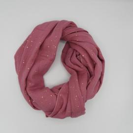 Sjaal Golden Dots  Roze