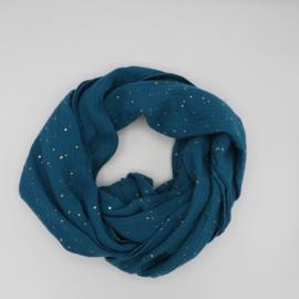 Sjaal Golden Dots Turquoise