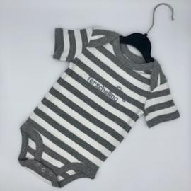Baby rompertje Terschelling - grijs bretonse streep