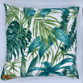 Kussen - Leaf tropical - formaat 40 x 40 cm