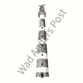 Ansichtkaart Bornrif Vuurtoren Ameland