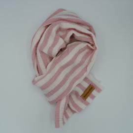 Sjaal Bretonse Streep roze