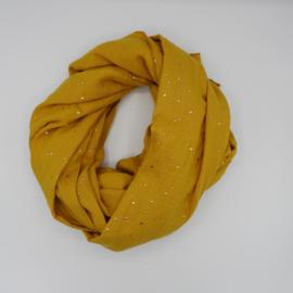 Sjaal Golden Dots Oker geel