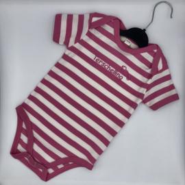 Baby rompertje Terschelling - Donker roze bretonse streep