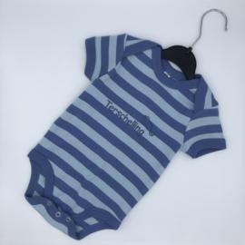 Baby rompertje Terschelling - blauw bretonse streep