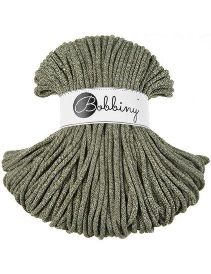 Bobbiny premium Cord 5mm Olive Green  melange