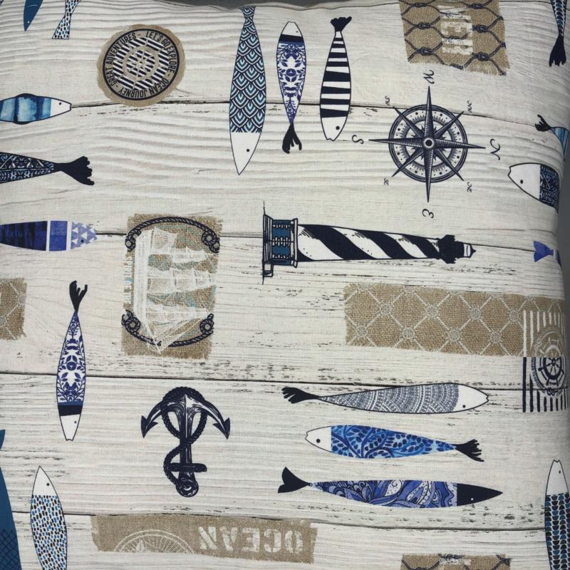 Maritiem sfeer kussen - formaat 50 x 50 cm