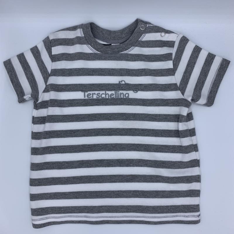 T-shirt baby - Wad Anders Terschelling - grijs