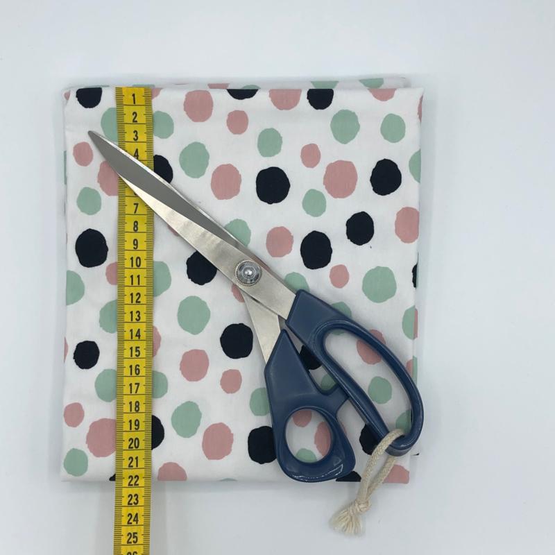 Dots Big - Zwart - Rose  - Mint