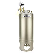SS Metalen Drukvat flesmodel 19 liter onderuitloop