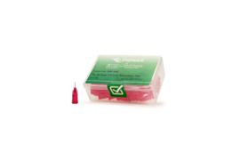 8001080 doseernaald 25ga, naaldlengte 6,35mm, rood, dia 0,25mm