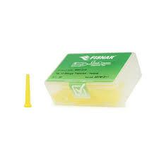 8001218 doseernaald 11ga conisch, yellow, dia 2,5mm
