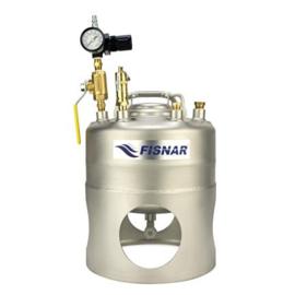 SS Metalen Drukvat flesmodel 1 liter onderuitloop