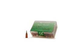 8001106 doseernaald 15ga, naaldlengte 38,1mm, amber, dia 1,37mm