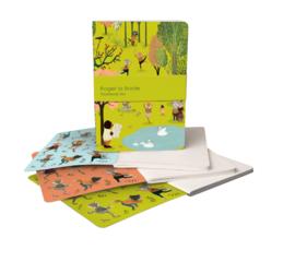 Set A6 notitieboekjes Yoga in the Park - Roger la Borde