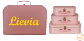 Koffertje licht roze 25 cm