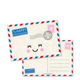 Ansichtkaart Happy Postcrossing - Studio Schatkist