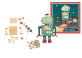 Knutselpakket houten robot schilderen