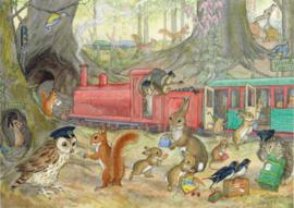 Ansichtkaart Cathing the Train - Molly Brett